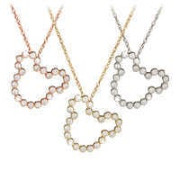 Image of Diamond Mickey Mouse Silhouette Necklace - 18K Gold # 1