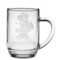 Minnie Mouse Glass Mug by Arribas - Large - Personalizable