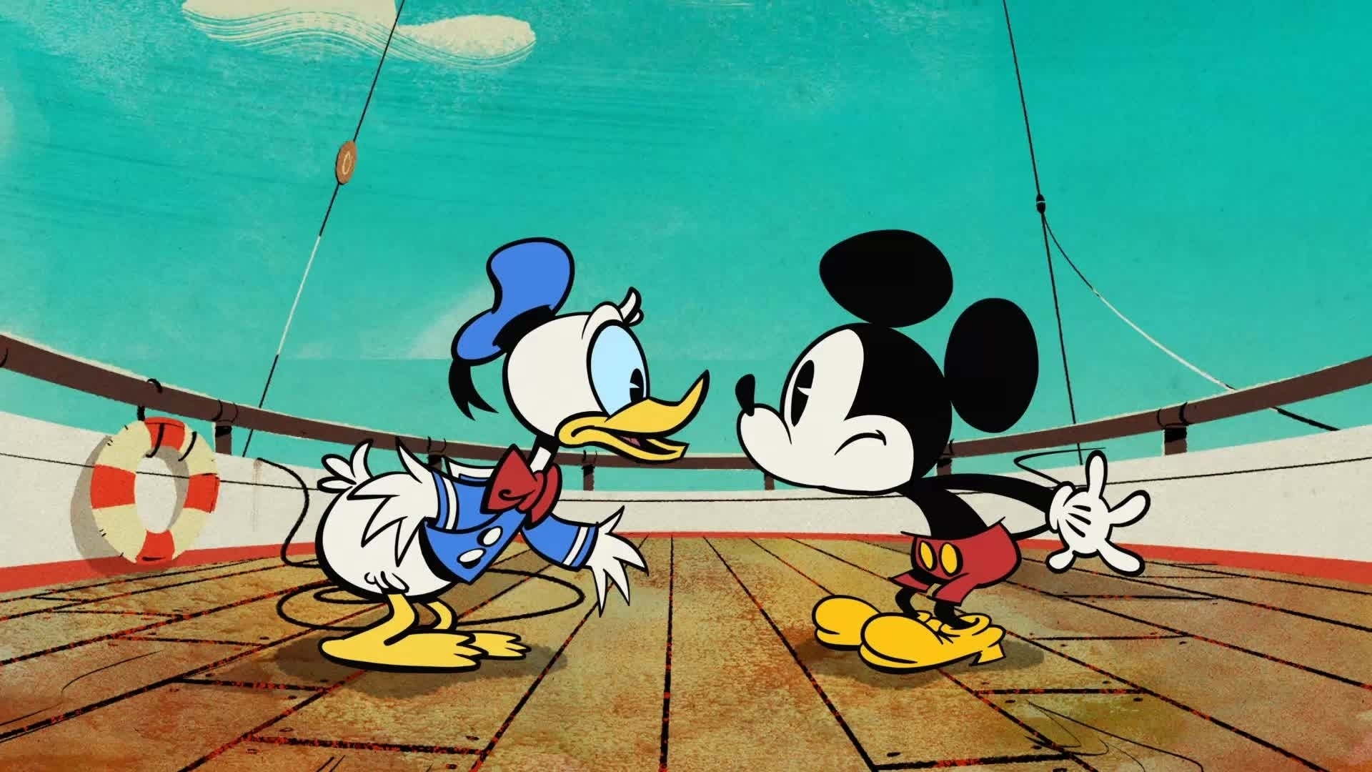 Mickey Mouse in Kapitein Donald