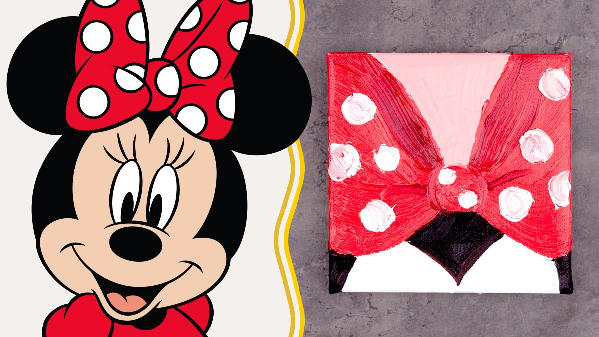 Oil Paint Art Inspired by Minnie Mouse | Disney Family