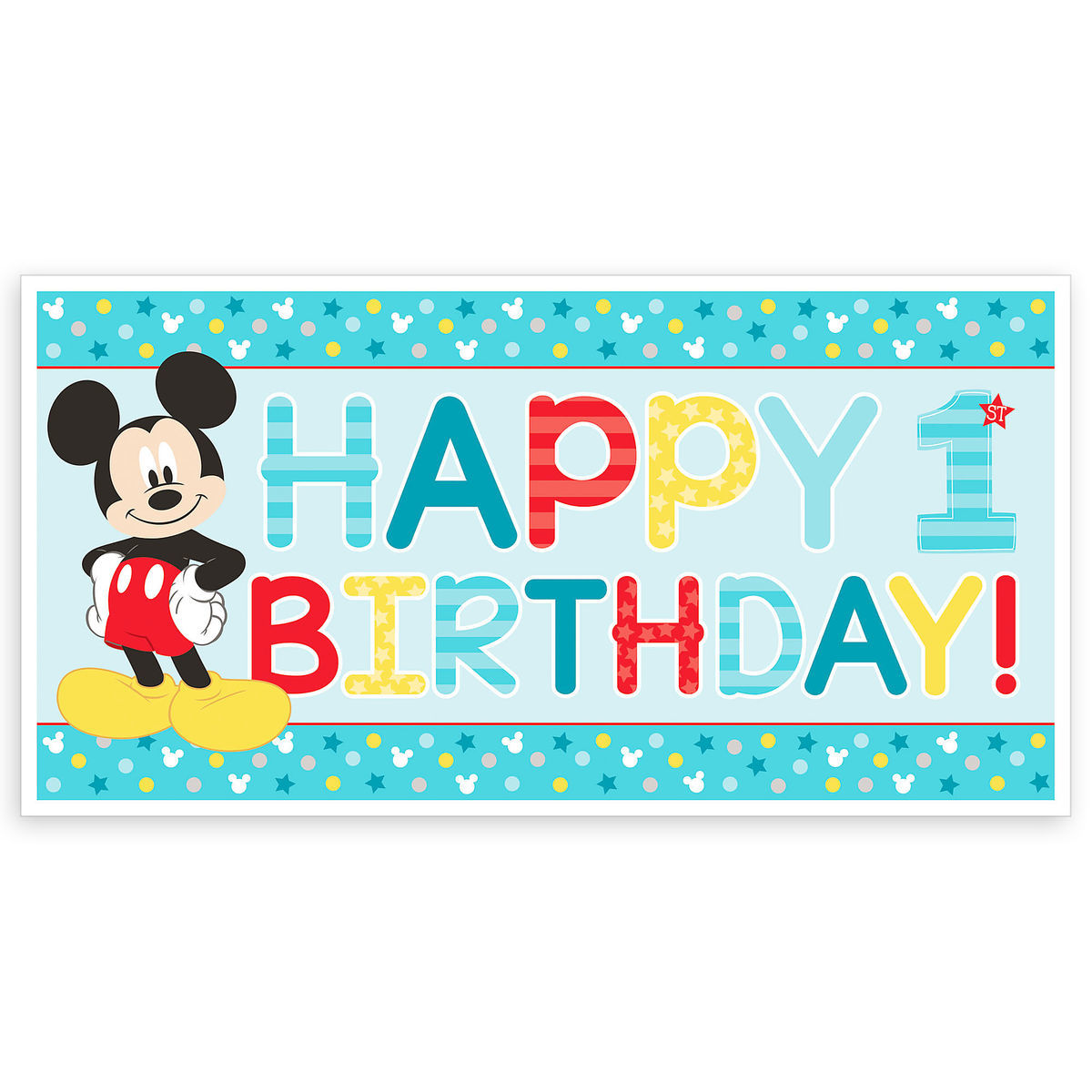 mickey mouse 1st birthday banner shopdisney