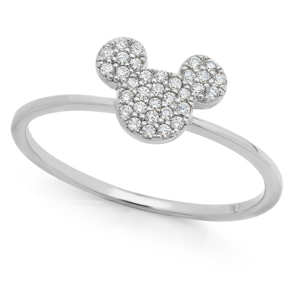 mickey mouse icon ring by crislu platinum - Mickey Mouse Wedding Ring