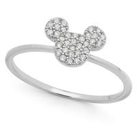 Image of Mickey Mouse Icon Ring by CRISLU - Platinum # 1