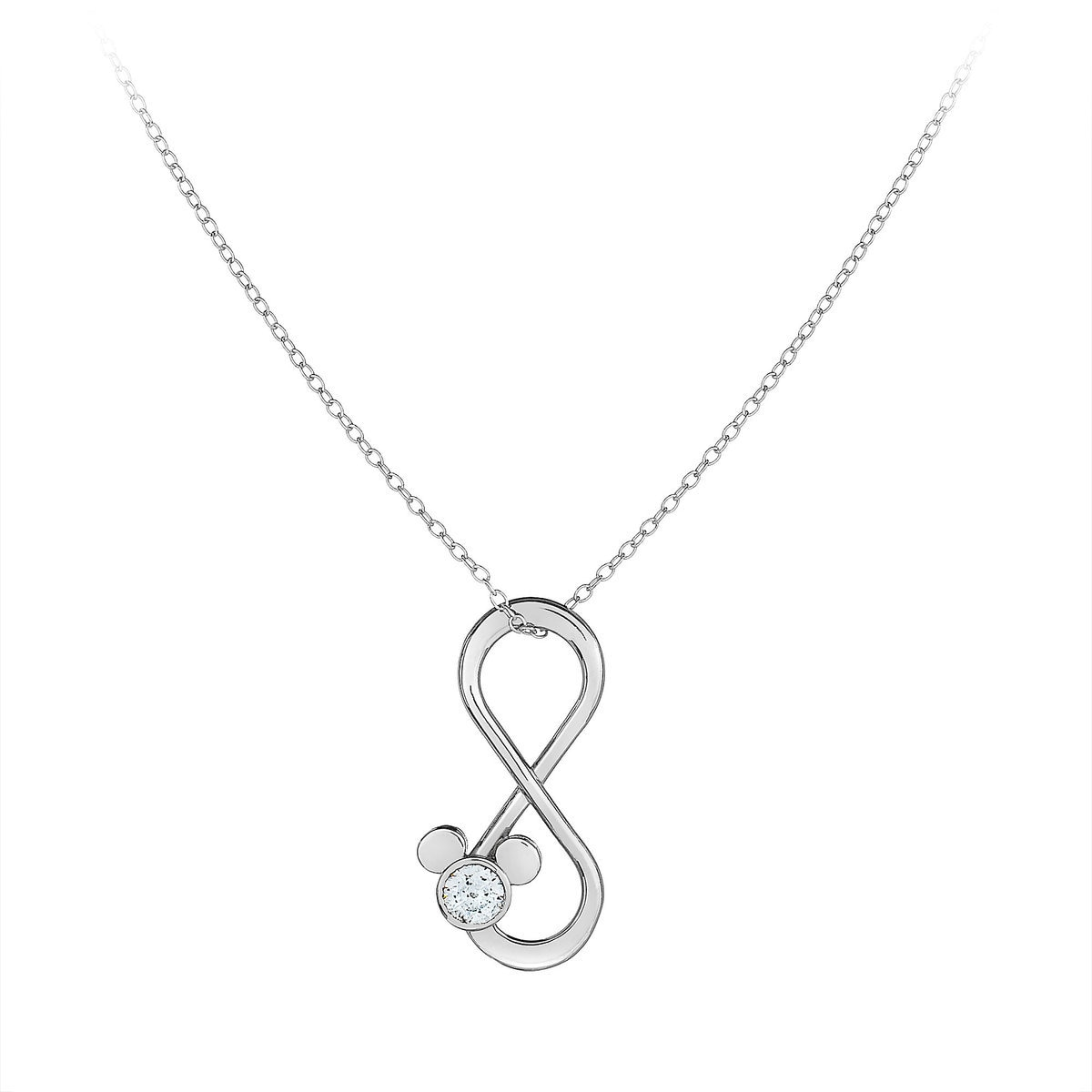necklace kay kaystore en tw diamonds silver sign heart zm mv sterling infinity ct