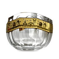 Walt Disney World Crystal Noah's Ark Bowl with Gold by Arribas Brothers - Limited Edition