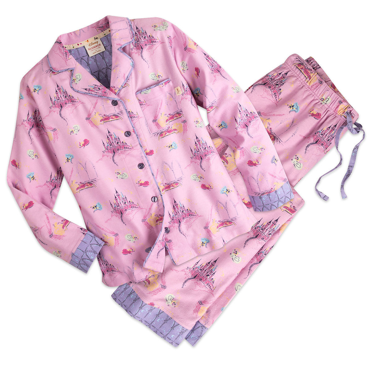 Product Image of Sleeping Beauty Flannel Pajama Set for Women by Munki Munki®    1 d25f831b1