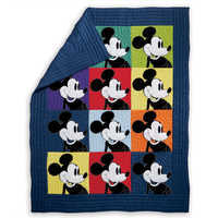 Image of Mickey Mouse Color Block Mickey Quilt by Ethan Allen # 1