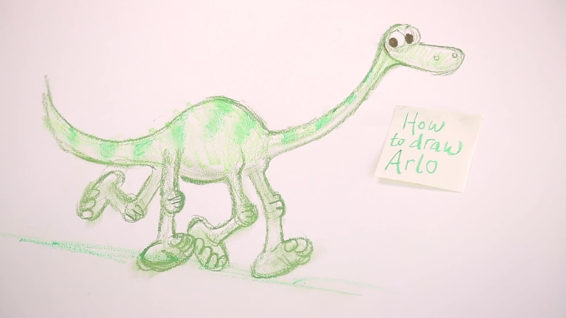 How to Draw Arlo from Good Dinosaur | Disney Insider