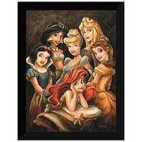 Image of Disney ''Princess Gathering'' Giclée by Darren Wilson # 6