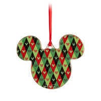 Image of Mickey Icon Ornament - Santa # 2