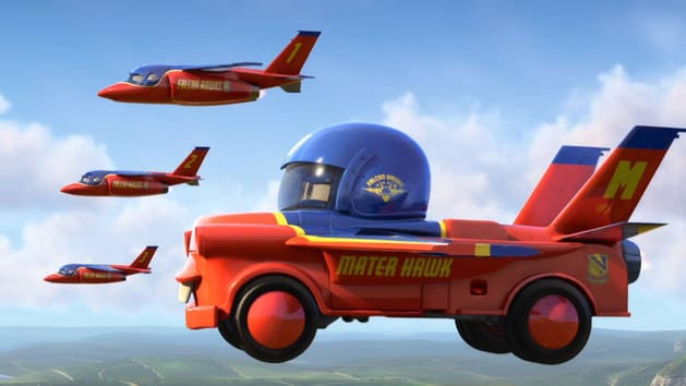 מכוניות מצוירות - מטור באוויר