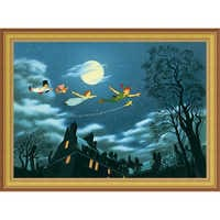 Image of Peter Pan ''And Away They Flew to Never Land'' Giclé # 8