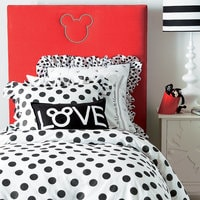 Image of Mickey Mouse Love Pillow by Ethan Allen # 7