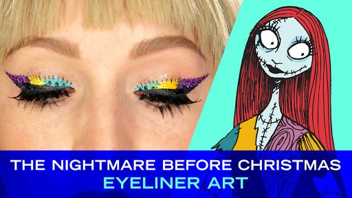 Disney Style: Tim Burton's The Nightmare Before Christmas Eyeliner Art