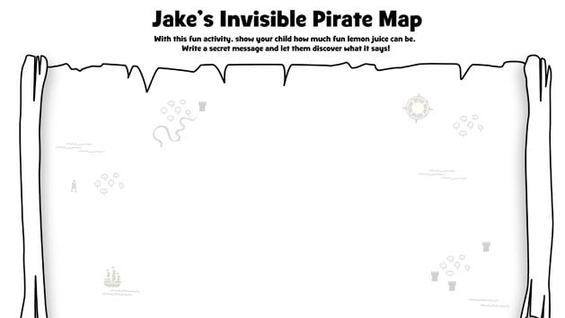 jakes invisible pirate ink map craft disney junior