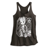 Image of Groot Heathered Tank Tee for Women - Guardians of the Galaxy Vol. 2 # 1