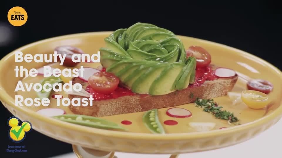Beauty and the Beast Avocado Rose Toast | Disney Eats