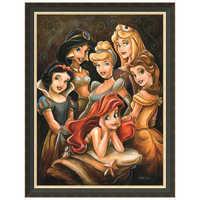 Image of Disney ''Princess Gathering'' Giclée by Darren Wilson # 7