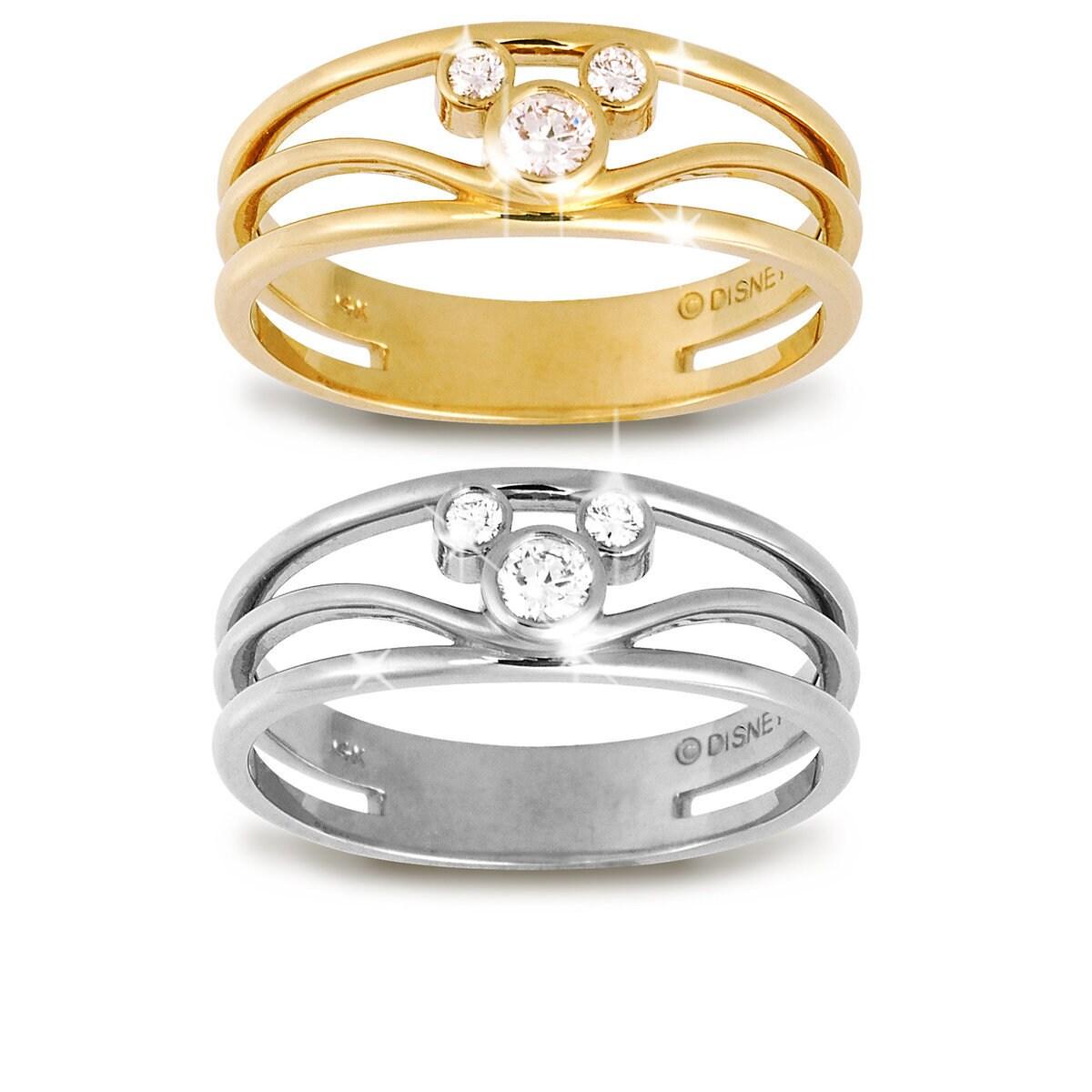 Mickey Mouse Icon Diamond Ring for Women | shopDisney