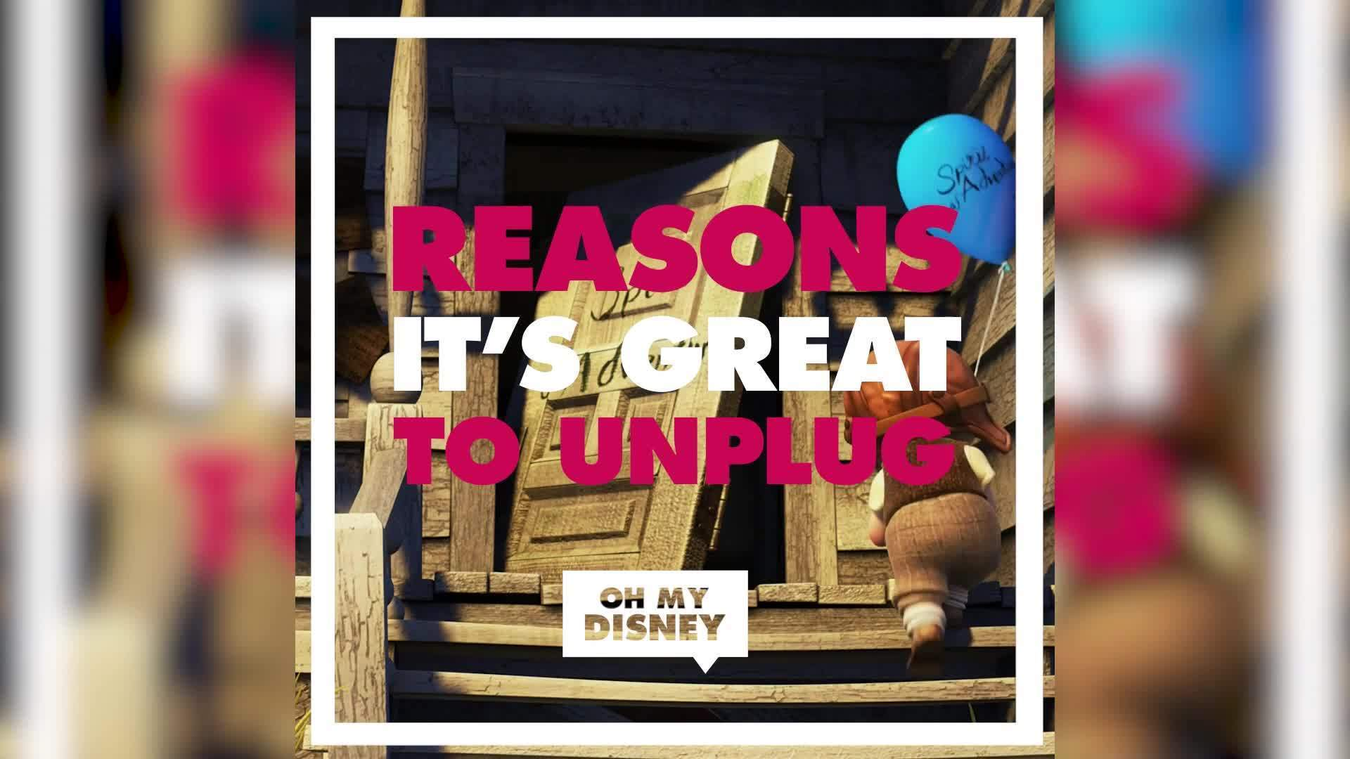 Disney Character-Inspired Reasons Why it's Great to Unplug | ListVids by Oh My Disney