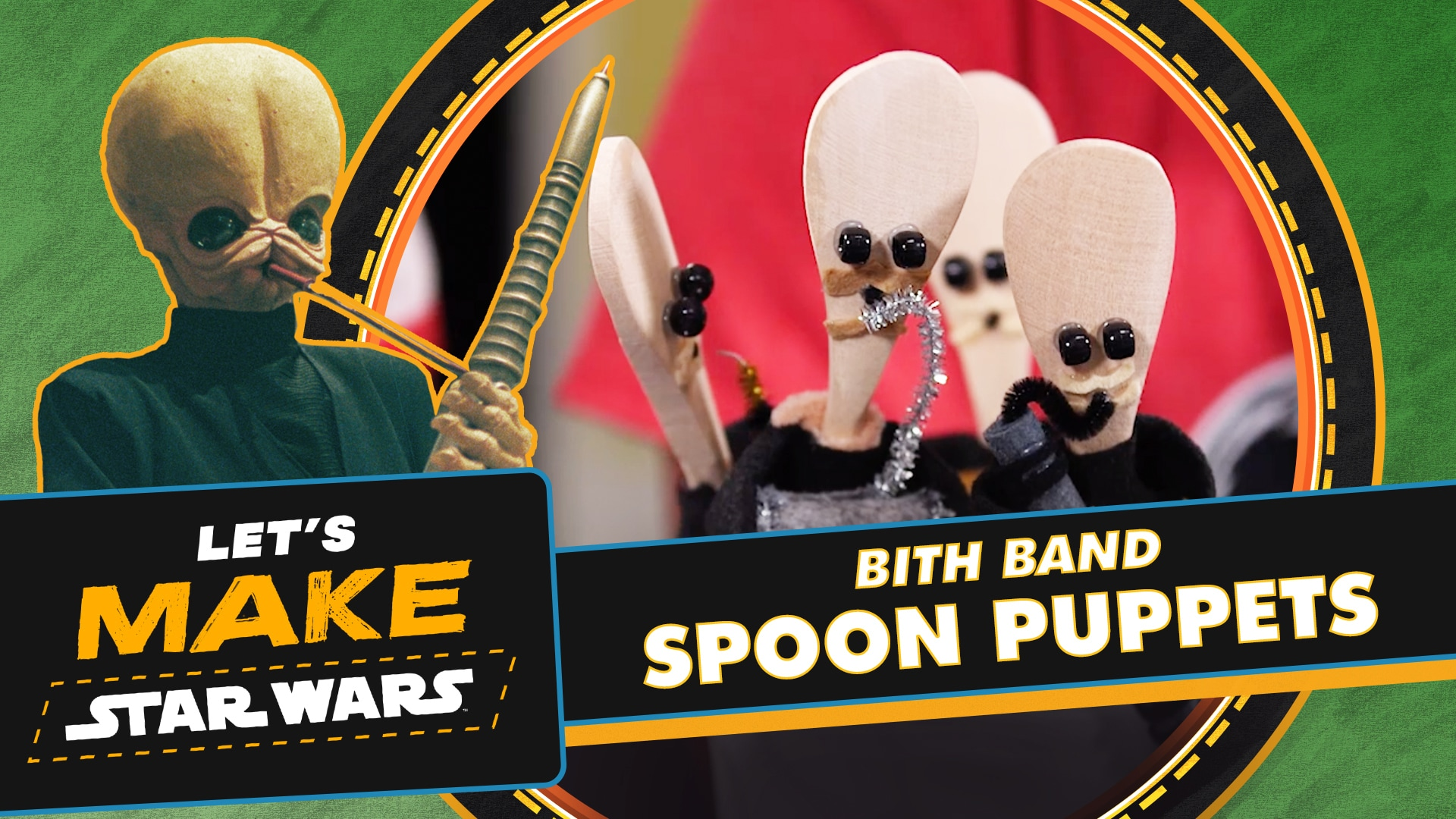 How to Make Cantina Band Spoon Puppets | Let's Make Star Wars