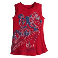 Mickey and Minnie Mouse Tank Tee for Women - Disney Cruise Line