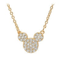 Image of Mickey Mouse Icon Necklace by CRISLU - Yellow Gold # 1