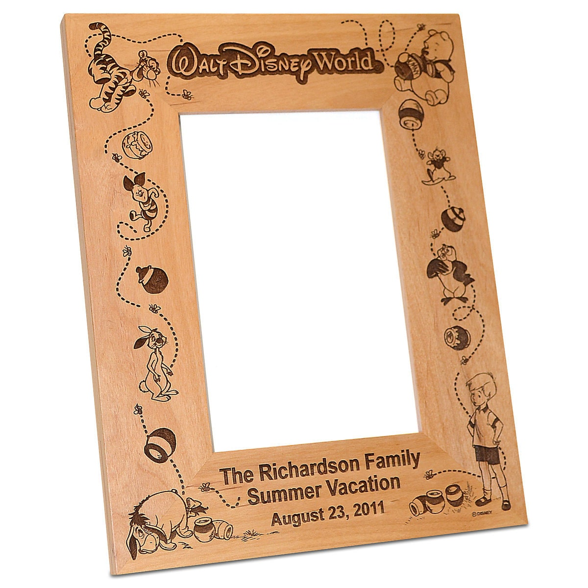 walt disney world winnie the pooh photo frame by arribas personalizable - Disney Picture Frame