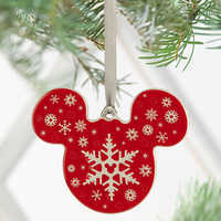 Image of Mickey Icon Ornament - Snowflake # 3