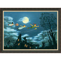Image of Peter Pan ''And Away They Flew to Never Land'' Giclé # 7