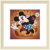 Image of ''Mickey and Minnie Kissing'' Giclée by Michelle St.Laurent # 5