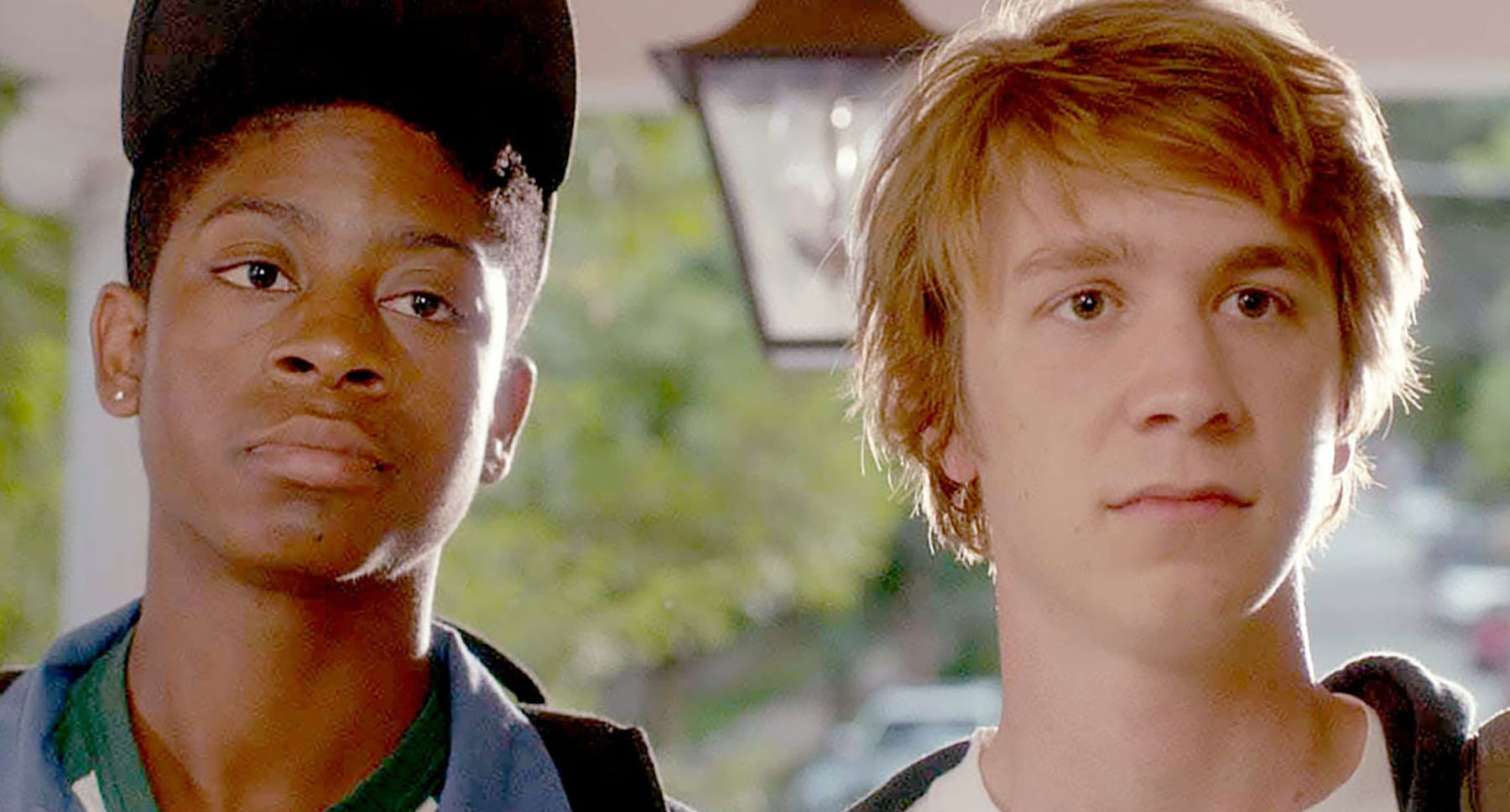 "Thomas Mann (as Greg) and RJ Cyler (as Earl) in ""Me and Earl and the Dying Girl"""