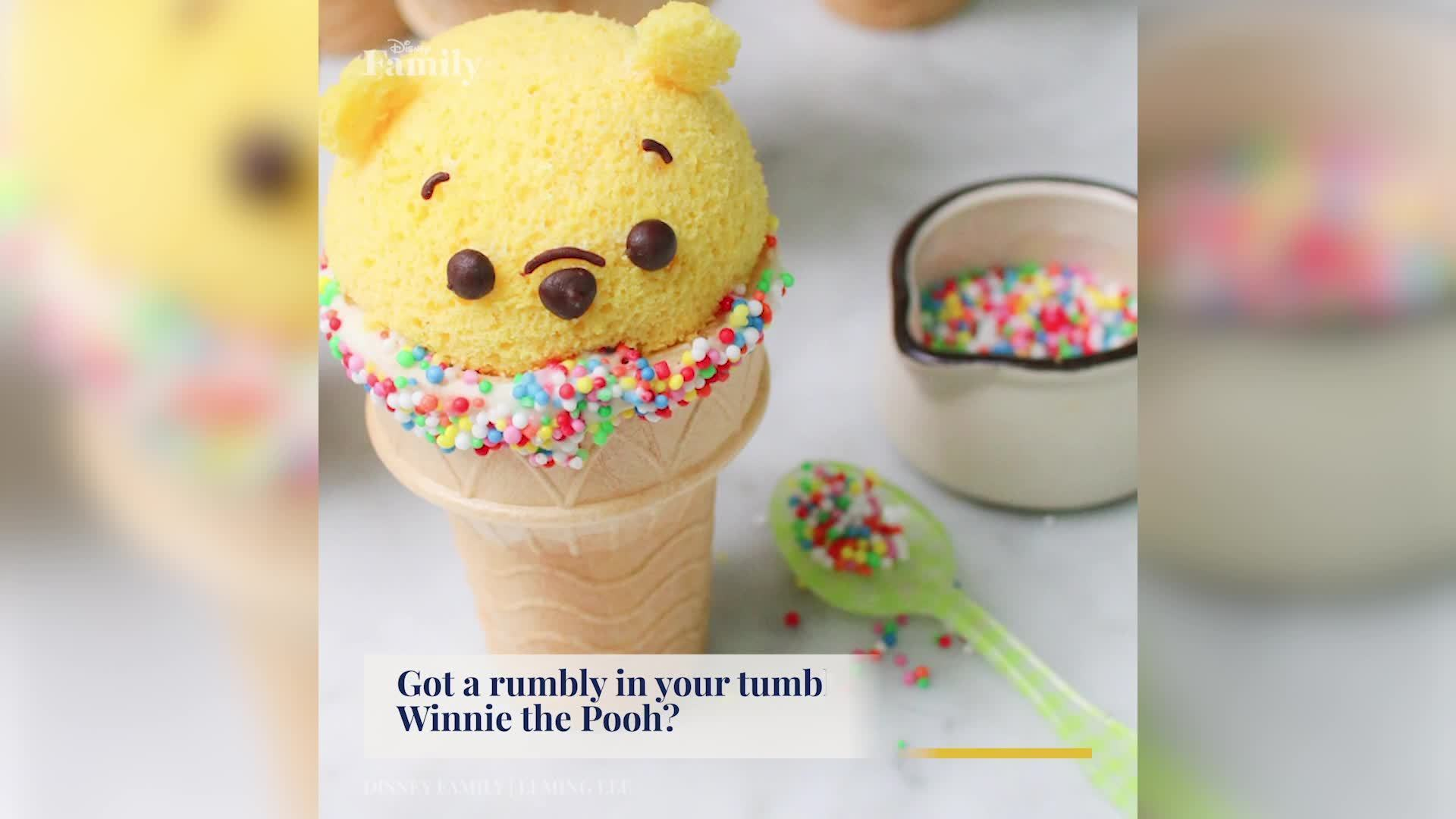 Winnie the Pooh Cupcake Cones | Disney Family