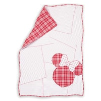 Image of Minnie Mouse Ticking Stripe Minnie Toddler Quilt by Ethan Allen # 1