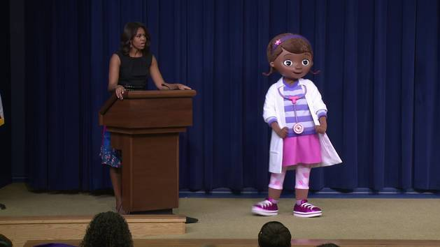 Veteran's Day with Doc McStuffins at the White House