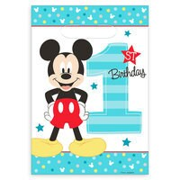 Mickey Mouse 1st Birthday Favor Bags