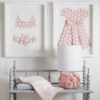 Image of Minnie Mouse ''Pretty in Polka Dots II'' Framed Paper Art by Ethan Allen # 2