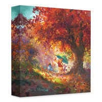 Image of ''Autumn Leaves Gently Falling'' Giclée on Canvas by James Coleman # 1