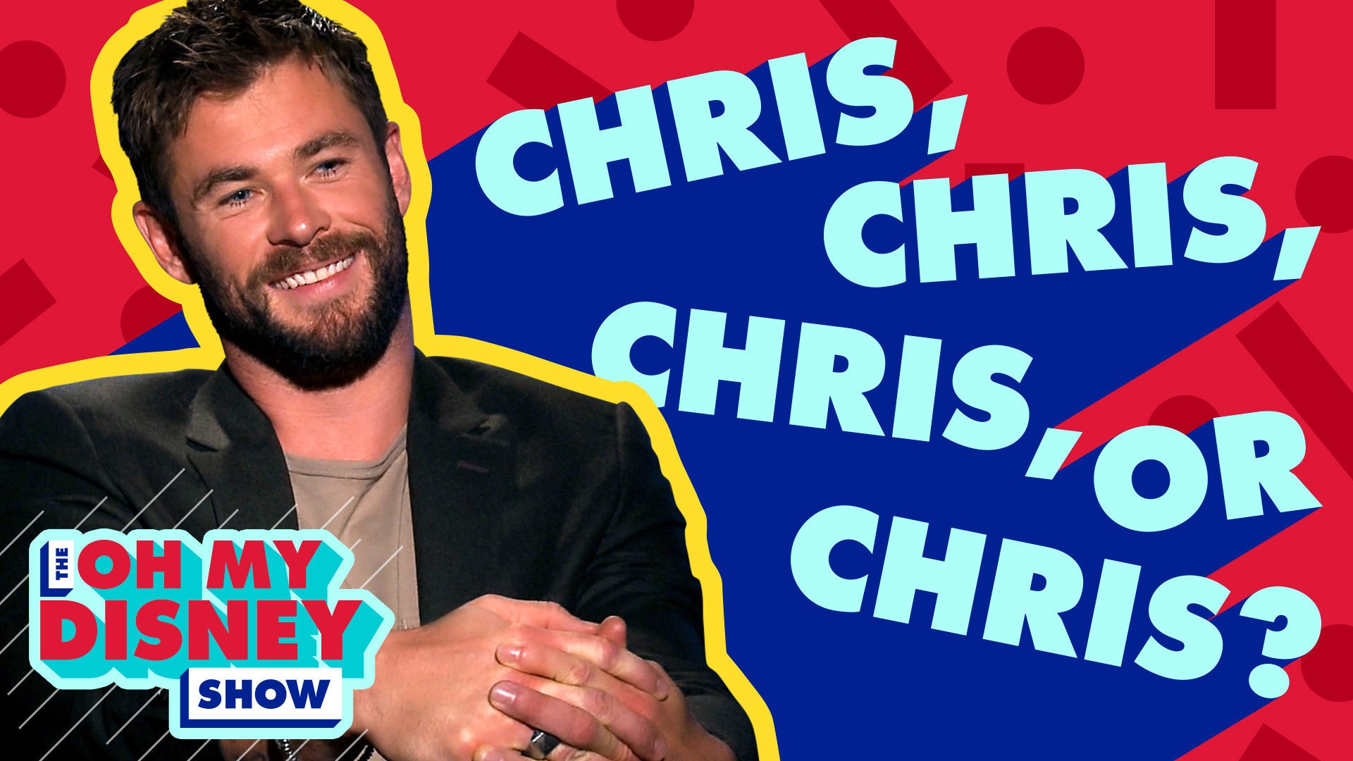 Chris Hemsworth Takes the Oh My Disney Chris Quiz | Oh My Disney Show