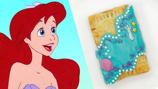 The Little Mermaid Pop Tart | #DisneyWeekend