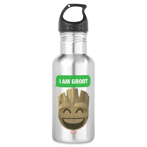 ''I Am Groot'' Text Emoji Water Bottle - Customizable