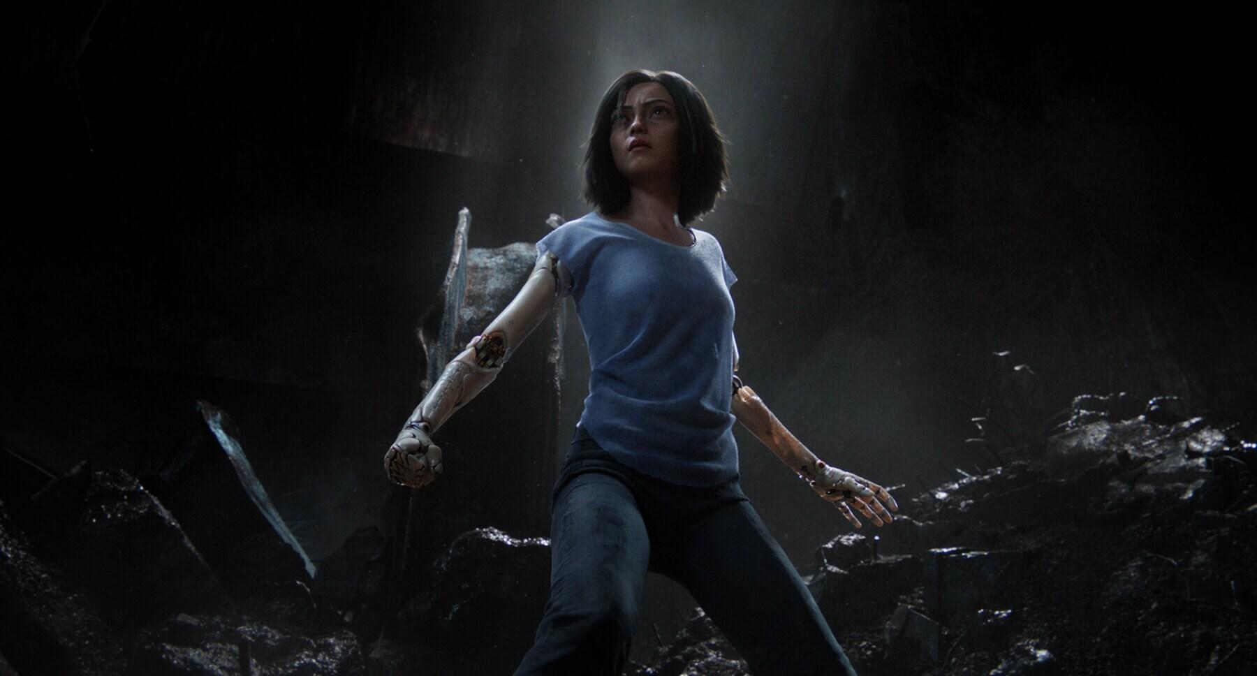 "Rosa Salazar as Alita from the movie ""Alita: Battle Angel"""