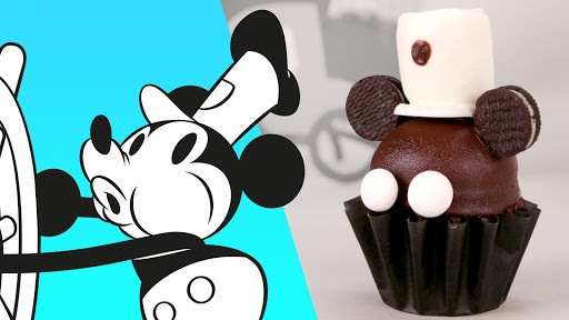 Steamboat Willie Mickey Cupcake | Disney Family