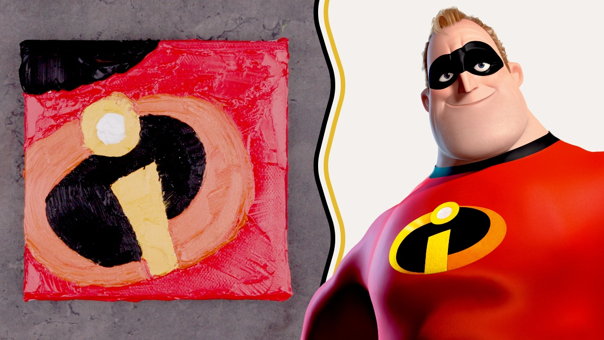 Oil Paint Art Inspired by The Incredibles | Disney Family
