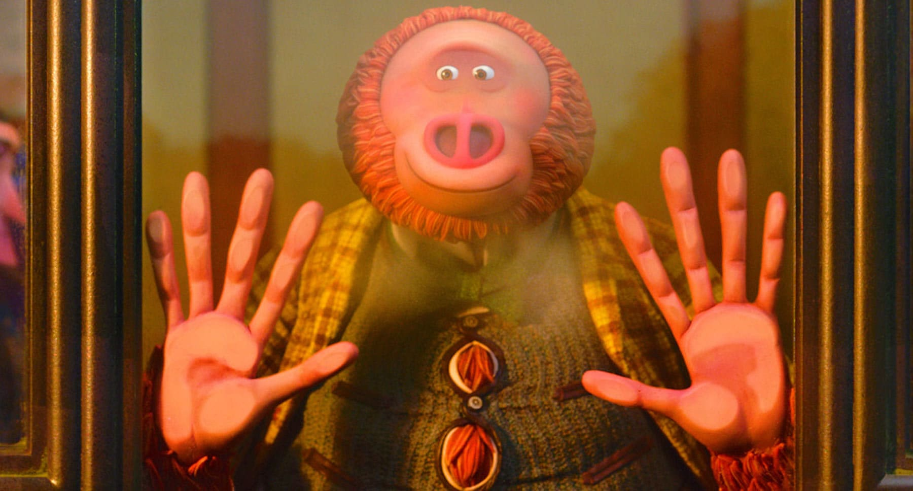 "Actor Zach Galifianakis as Mr. Link in the movie ""Missing Link"""