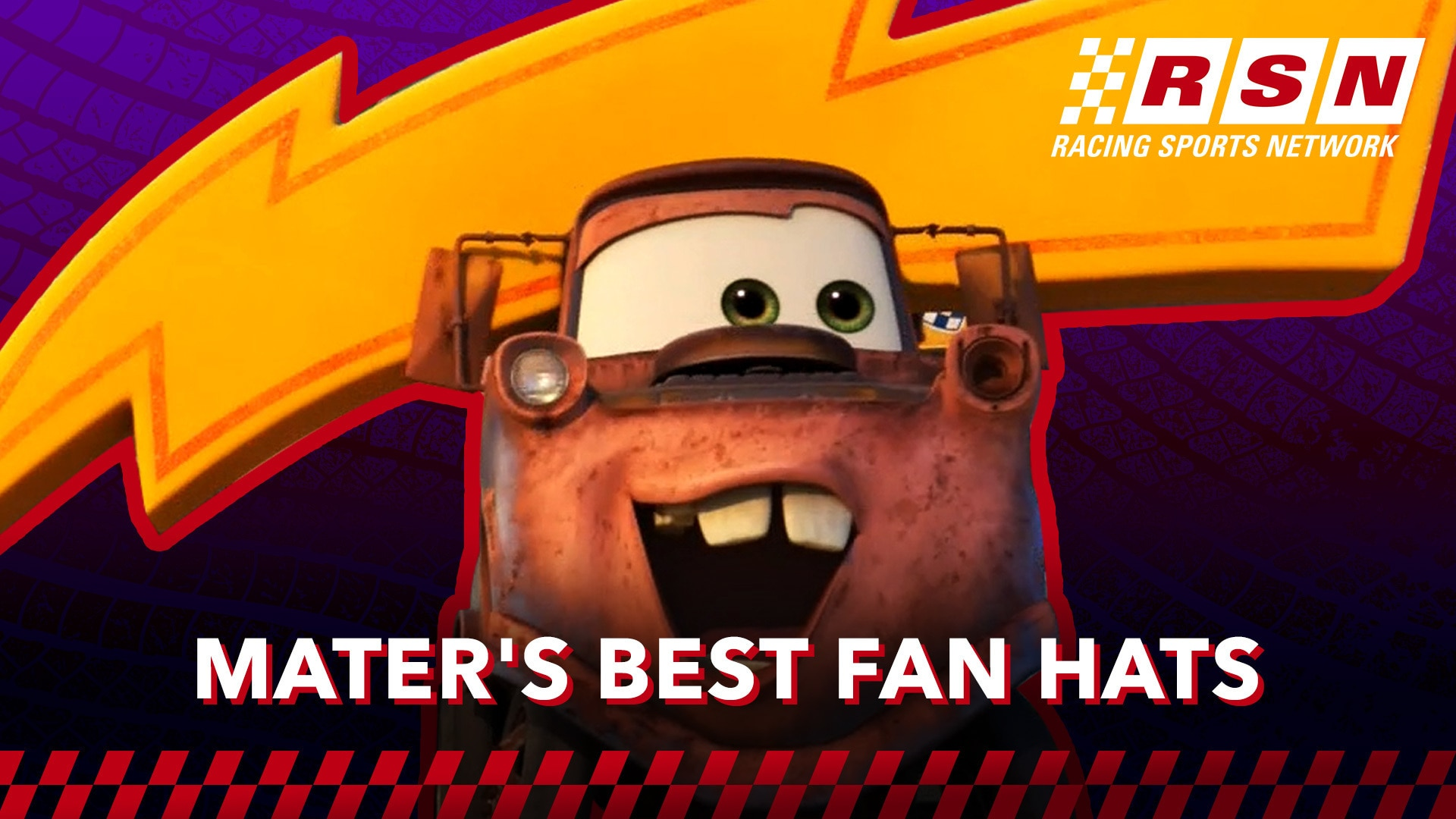 Mater's Best Fan Hats in Cars | Racing Sports Network by Disney•Pixar Cars
