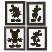 Image of Mickey Mouse Silhouette Prints by Ethan Allen # 1