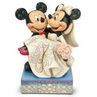 Image of Mickey and Minnie Mouse ''Congratulations!'' Figure by Jim Shore # 1
