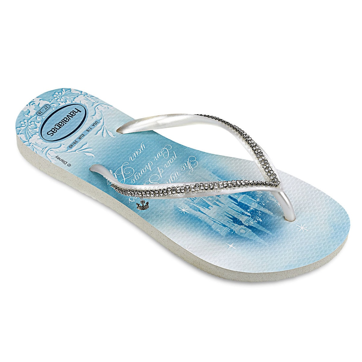 c60967888d7e90 Product Image of Cinderella Bridal Flip Flops for Women by Havaianas   1