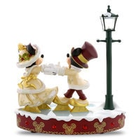 Mickey and Minnie Mouse Skating Figure - Holiday